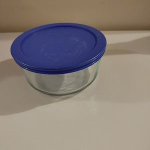 4/$6 EUC Pyrex baking dish with rubber lid!! Blue!